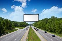 Billboard on american tollway Royalty Free Stock Photo