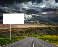 The billboard ande road outdoor. Stock Photos
