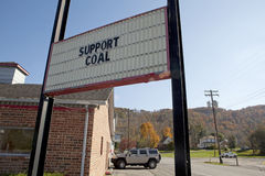 Billboard,Appalachia. Support coal billboard. Images from Wise, Virginia stock images