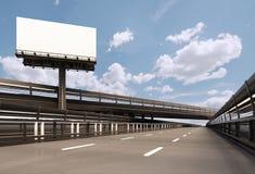 billboard autostrada Obrazy Royalty Free