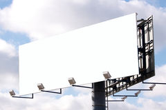 Billboard background. On cloudy sky Royalty Free Stock Photos