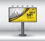 Billboard banner template vector design, advertisement, Realistic construction for outdoor advertising on city background, vector. Template design vector illustration