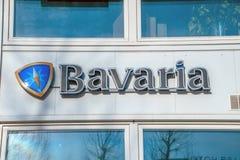 Billboard Bavaria Beer Company a Amsterdam i Paesi Bassi 2019 fotografie stock libere da diritti