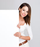 Billboard beauty. Stock Photos