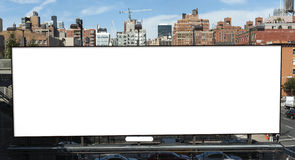 Billboard. Big blank billboard in New York City Royalty Free Stock Images