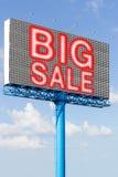 billboard big sale stock image