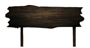 Billboard black wooden Stock Photography