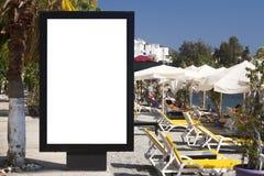 Billboard. Blank billboard in the street royalty free stock photography
