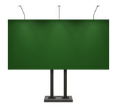 Billboard, blank green, isolated on white. With clipping path, 3d illustration Stock Photos