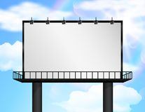 Billboard of blank for new advertisement Royalty Free Stock Image
