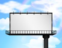 Billboard of blank for new advertisement Royalty Free Stock Photography