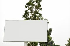 Billboard blank for outdoor advertising poster royalty free stock photos