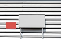 Billboard blank for outdoor advertising poster royalty free stock photo