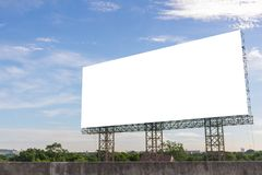 Billboard blank on road in city for advertising background.  royalty free stock photography