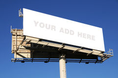 Billboard with blank space royalty free stock photo