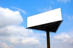 Billboard with blank space stock photography