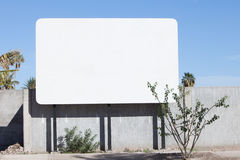 Billboard. A blank billboard stands ready for a message stock images