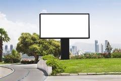 Billboard. Blank billboard in the street royalty free stock image