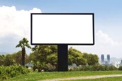 Billboard. Blank billboard in the street stock photography