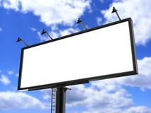 Billboard blank white for outdoor advertising poster or blank billboard advertisement mock up template can be used for display you. Billboard blank white for Royalty Free Stock Photo