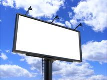 Billboard blank white for outdoor advertising poster or blank billboard advertisement mock up template . Billboard blank white for outdoor advertising poster or Royalty Free Stock Photo