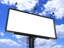 Billboard blank white for outdoor advertising poster or blank billboard advertisement mock up template . Billboard blank white for outdoor advertising poster or Stock Image