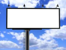 Billboard blank white for outdoor advertising poster or blank billboard advertisement mock up template . Billboard blank white for outdoor advertising poster or Royalty Free Stock Photography