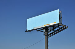 Billboard on blue sky Stock Photos