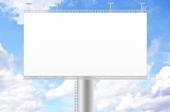 Billboard and blue sky background. Ad advert advertise advertisement advertising announcement royalty free illustration