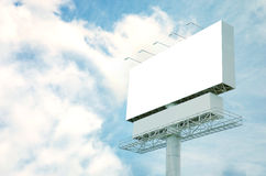 Billboard and blue sky background Stock Photo