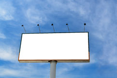 Billboard with blue sky background Stock Photography