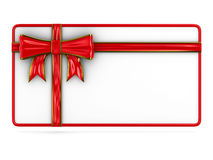 Billboard with bow on white. Isolated 3D image Royalty Free Stock Images