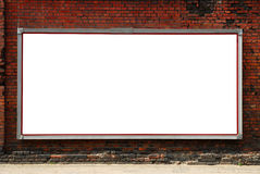 Billboard on a brick wall royalty free stock images