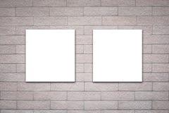 Billboard on brick wall Stock Image