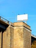 Billboard on the bridge Stock Photo