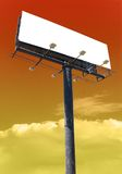 Billboard brown. White billboard advertise with clouds put your ad here stock images