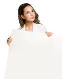 Billboard brunette. Royalty Free Stock Photos