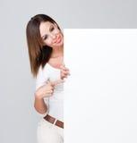 Billboard brunette. Stock Photography