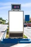 Billboard at bus station Stock Image