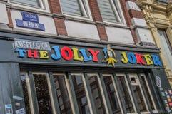 Billboard Byczy joker Przy Amsterdam holandie 2018 zdjęcia royalty free