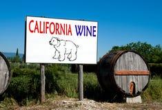 Billboard for California wine sales Stock Photos
