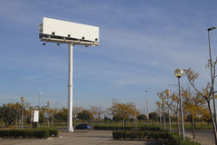 Billboard in a car park Stock Photo