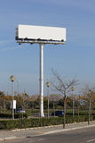 Billboard in a car park Stock Images