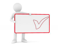 Billboard with checkmark on white background. Isolated 3D. Image Royalty Free Stock Image