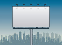 City Billboard stock illustration