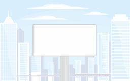 Billboard in the city Royalty Free Stock Photo