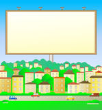 Billboard in city landscape Royalty Free Stock Photography