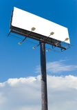 Billboard clouds. White billboard advertise with clouds put your ad here royalty free stock photos