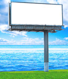 Billboard on a coast shore Royalty Free Stock Images