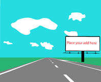 Billboard color vector silhouette Royalty Free Stock Images